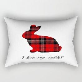 I Love My Rabbit Rectangular Pillow