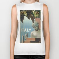 italy Biker Tanks featuring ITALY by Kathead Tarot/David Rivera