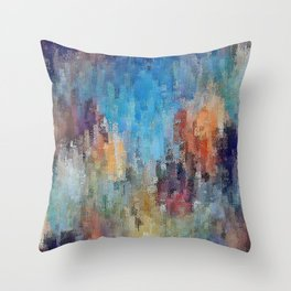 Life is a Box of Crayons (transitioning to Heaven's Gate) Throw Pillow