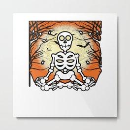 Skeleton Creepy Bones Halloween Gift Metal Print