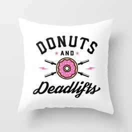 Donuts And Deadlifts v2 Throw Pillow