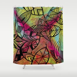 Crazy Leaves  Shower Curtain