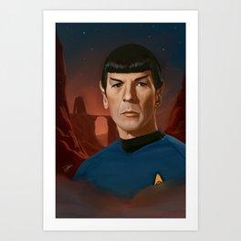 Mr. Spock Art Print