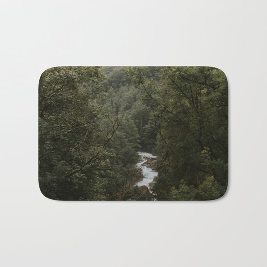 Forest Valley River - Landscape Photography Bath Mat