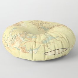 Map of the Proposed Panama Canal (1906) Floor Pillow