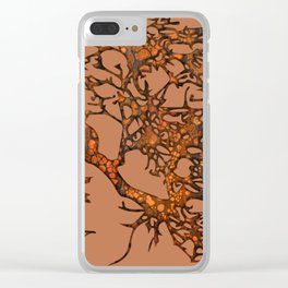 Fallen leaves Clear iPhone Case