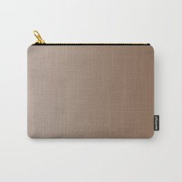 Pastel Brown to Brown Vertical Linear Gradient Carry-All Pouch