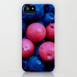 Forest Berries background iPhone Case