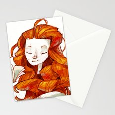 Red hair muse Stationery Cards