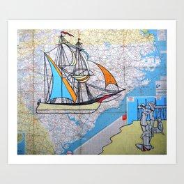 East Coast - True North Art Print