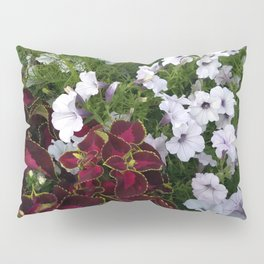 Burgundy & White Flowers 001 Pillow Sham