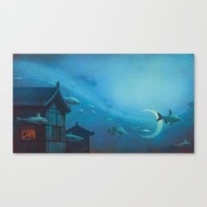 Silver River Tien Ho Canvas Print