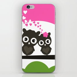 Enamoured owls iPhone Skin