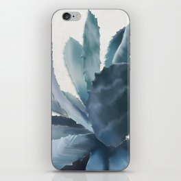 Agave, botanic print - grey iPhone Skin