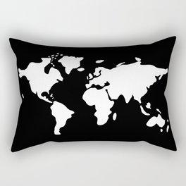 white modern world map Rectangular Pillow
