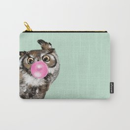 Sneaky Owl Blowing Bubble Gum Carry-All Pouch