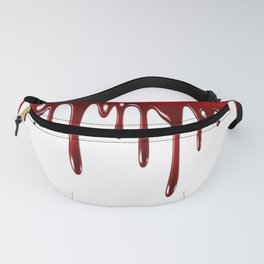 Blood Dripping White Fanny Pack