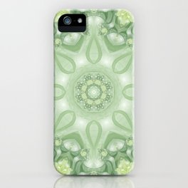 Spring Mandala 02 in Green, Yellow and White iPhone Case