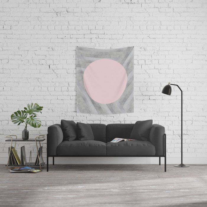Gray and pink stone Wall Tapestry