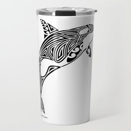 Tribal Orca Travel Mug