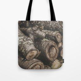 Wood Pile Tote Bag