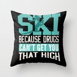 Ski Skier Throw Pillow