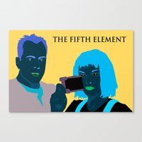 fifth element Canvas Prints featuring The Fifth Element by illustrationsbysammi