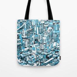 City Machine - Blue Tote Bag
