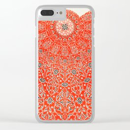 Vintage Red Turkish Pattern Clear iPhone Case