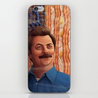 swanson iPhone & iPod Skins featuring Ron Swanson by Lydia Guadagnoli