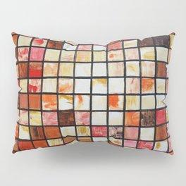 Mosaic red abstract painting by Ksavera Pillow Sham