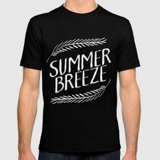 Summer Breeze II MEDIUM Black Mens Fitted Tee