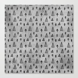 Black abstract tree pattern on concrete  - Mix&Match with Simplicty of life Canvas Print
