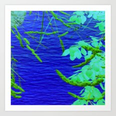 Blue Nature Art Print