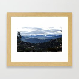 Jamul Mountains in Light Framed Art Print