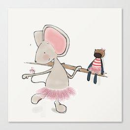 Little Mouse - Ballerina Canvas Print