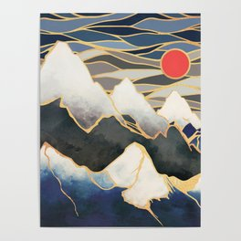 Ice Mountains Poster