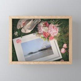 Romantic Santa Monica Pier framed Photo for Wedding or Valentine's Day Framed Mini Art Print