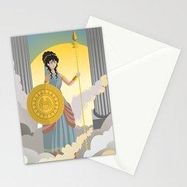 minerva athena goddess Stationery Cards