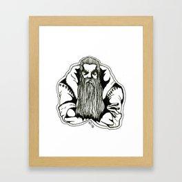 Mad Santa! Framed Art Print