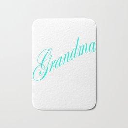 I'm the Grandma The Rules Don't Apply To Me - blue Bath Mat