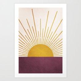 Marsala Sunset Art Print