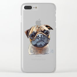 I AM A PUG by Shirley MacArthur Clear iPhone Case