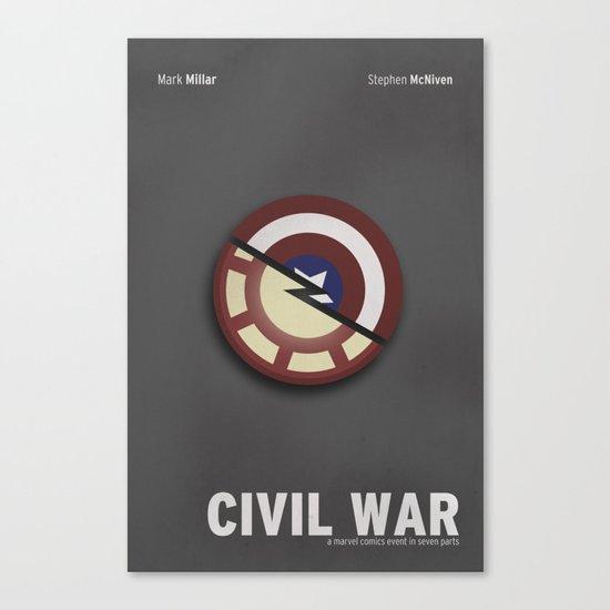 Minimalist Civil War Canvas Print