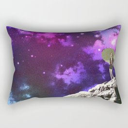 Lady in Space II Rectangular Pillow