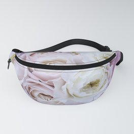 Pastel Pink Flowers Fanny Pack