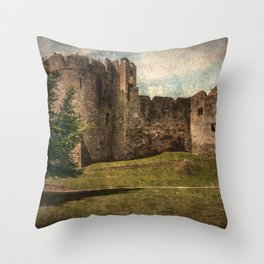 Chepstow Castle Towers Throw Pillow