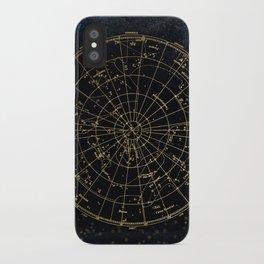 Golden Star Map iPhone Case