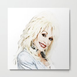 Dolly Parton - Pop Art Metal Print