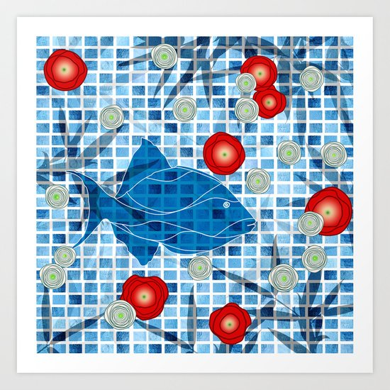 By The Pool !! Art Print